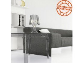 Table d'appoint 'RETRO' design transparente