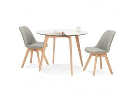 Petite table à diner ronde 'ANGELA' en verre transparent - Ø 100 cm