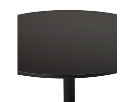 Petite table de bureau/à diner ronde 'ATLANTA' noire - Ø 90 cm