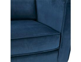 Grand canapé droit 'BANDY XXL' en velours bleu pétrole - canapé 4 places