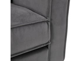 Grand canapé droit 'BANDY XXL' en velours gris foncé - canapé 4 places