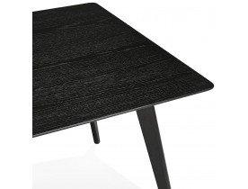 Table à manger / bureau design 'BARISTA' en bois noir - 180x90 cm