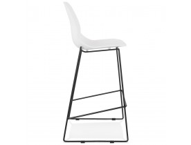 Tabouret de bar design 'BERLIN' blanc empilable style industriel