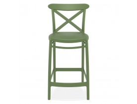 Tabouret snack mi-hauteur 'BERLIOZ MINI' style rétro vert