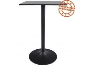 Pied de table 'BLAK' 110 en métal noir