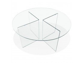 Table de salle à manger ronde en verre 'BOBBY TABLE ROUND' design - Ø 120 cm
