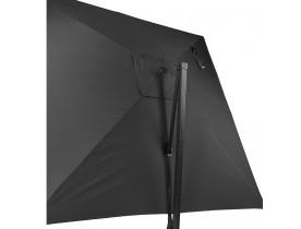 Parasol déporté 'BRELLA' gris foncé en aluminium - 300x300 cm