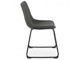 Chaise vintage 'BUFFALO' gris foncé