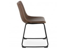Chaise vintage 'BUFFALO' brune