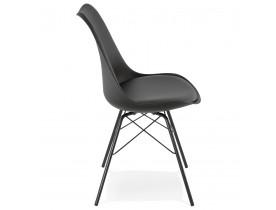 Chaise design 'BYBLOS' noire style industriel