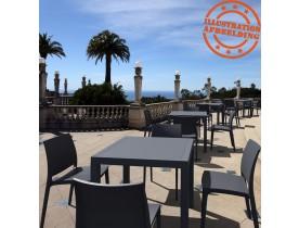 Table de terrasse 'CANTINA' design en matière plastique gris foncé - 80x80 cm