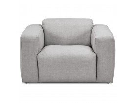 Fauteuil de salon design 1 place 'CANYON MICRO' gris clair