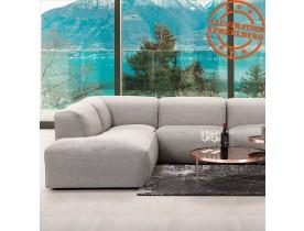 Canapé panoramique en U design 'CANYON U SHAPE' gris clair (angle à gauche)