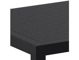 Table de terrasse 'CANTINA' design en matière plastique noire - 80x80 cm