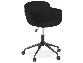 Chaise de bureau 'CENTURION' en tissu noir sur roulettes