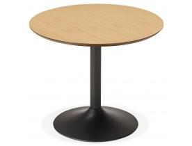 Petite table de bureau / à diner ronde 'CHEF' en bois finition naturelle - Ø 90 cm