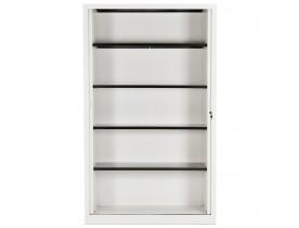 Armoire de bureau haute à rideaux 'CLASSIFY' blanche - 198x120 cm