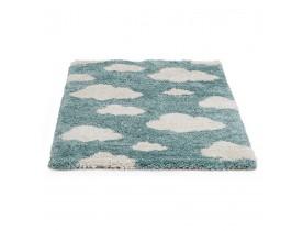 Tapis enfant bleu 'CUMULUS' 80/150 cm motifs nuages blancs
