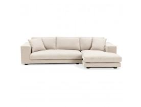 Canapé d'angle design 'DALTON L SHAPE' en tissu beige (angle à droite)