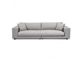Grand canapé droit design 'DALTON XXL' en tissu gris clair