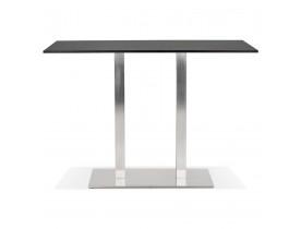 Mange-debout design 'DENVER BAR' noir avec pied en métal brossé - 160x80 cm