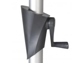 Parasol octogonal design 'DONY' gris foncé en aluminium - Ø 300 cm