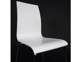 Chaise de salle à manger design 'ESPERA' en bois blanche