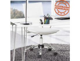 Fauteuil de bureau 'EVO' sur roulettes en similicuir blanc