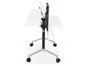 Grand bureau pliable 'FLEXO' blanc sur roulettes - 160x80 cm