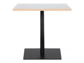 Table carrée 'FUSION SQUARE' blanche et structure noire - 80x80 cm