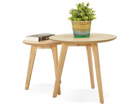 Tables gigognes ronde 'GABY' en bois naturel