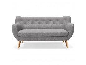 Canapé droit 3 places 'GASPARD' en tissu gris clair