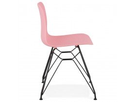 Chaise design 'GAUDY' rose style industriel