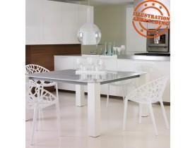 Chaise moderne 'GEO' blanche en matière plastique