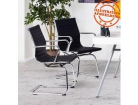 Chaise de bureau design 'GIGA' en similicuir noir