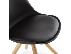 Chaise scandinave 'GOUJA' noire