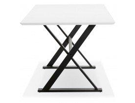 Table à diner / bureau design 'HAVANA' en bois blanc - 180x90 cm