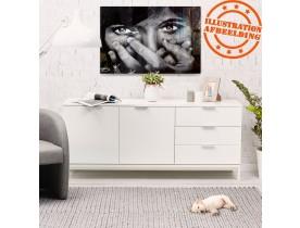 Bahut design 'HIPPIE' en bois blanc