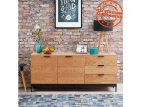 Bahut design 'HIPPIE' en bois finition naturelle
