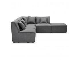 Canapé d'angle modulable design 'INFINITY COMBI' gris foncé (angle au choix)