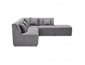 Canapé d'angle modulable design 'INFINITY COMBI' gris clair (angle au choix)