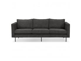 Canapé droit design 'JANE' gris foncé - canapé 3 places