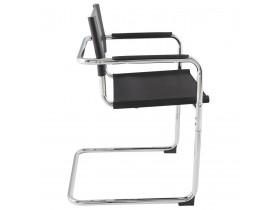 Chaise d'accueil / visiteur 'KA' noire pour bureau ou salle de réunion