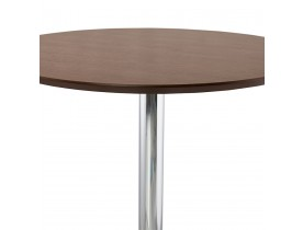 Mange-debout / table haute 'LIMA' en bois finition Noyer - Ø 90 cm