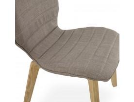 Chaise design 'LINDA' en tissu style scandinave
