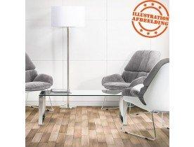 Lampadaire design 'LIVING BIG' blanc réglable en hauteur