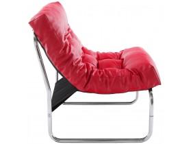Fauteuil lounge 'LOFT' rouge