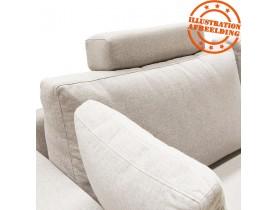 Appui-tête pour canapé 'LUCA' en tissu beige
