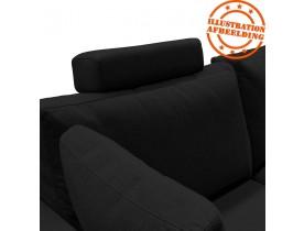 Appui-tête pour canapé 'LUCA' en tissu noir