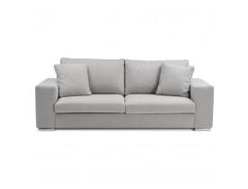 Canapé droit design 'LUCA LARGE' en tissu gris clair - Canapé 2,5 places